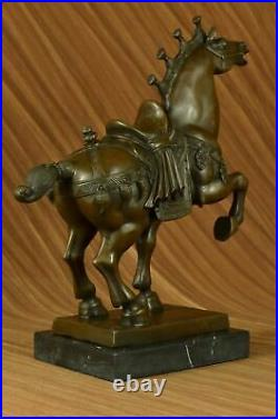 100% BRONZE Chinese Horse Tang Dynasty Sculpture Statue Replica Hand Made NR