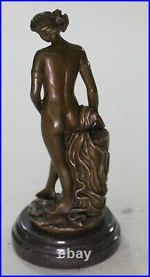 100% Solid Bronze Nude Goddess Hand Made by Lost wax Method Sculpture Statue