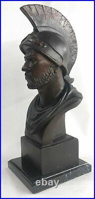 100% Solid Bronze Statue Roman Soldier Warrior Sculpture Hand Made Figurine DEAL