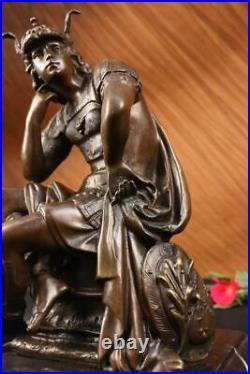 100% Solid Bronze Statue Roman Soldier Warrior Sculpture Hand Made Figurine Gift