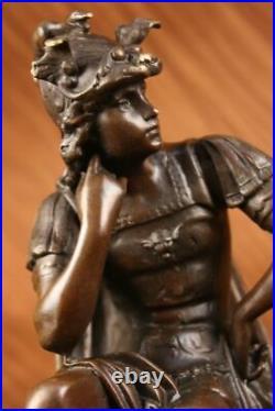 100% Solid Bronze Statue Roman Soldier Warrior Sculpture Hand Made Figurine Sale