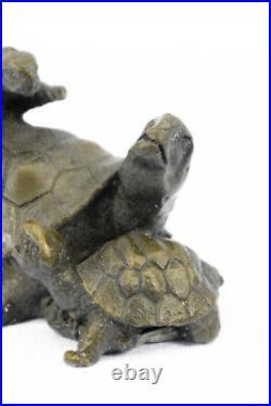 A Playful Vienna Bronze Turtle Sculpture Made by Lost Wax Method Statue Figurine