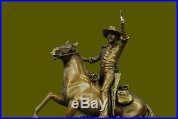 A fine bronze casting of The Desperado by Carl Kauba Hand Made sculpture Statue