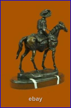 American Hand Made Sculpture Statue Will Rogers By C. M. Russell Western Figurine