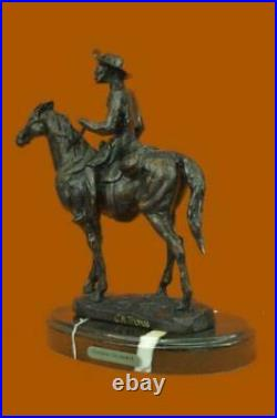 American Hand Made Sculpture Statue Will Rogers By Thomas Western Figurine Sale