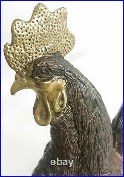 Art Deco Hand Made Extra Large Rooster Bronze Sculpture Hand Made Statue Sale