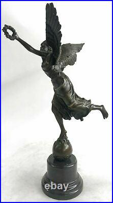 Art Deco Hand Made Nike Female Victory Angel Museum Quality Bronze Statue Deal