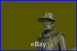 Art Deco Hot Cast Detailed Bronze Sculpture Cowboy with Rifle Hand Made Statue