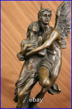 Art Deco/Nouveau Cupid Psyche Eros Hand Made by Lost Wax Method Bronze Statue