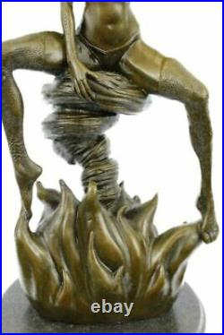 Art Deco/Nouveau Female Warrior Medusa Hand Made by LostWax Method Bronze Statue