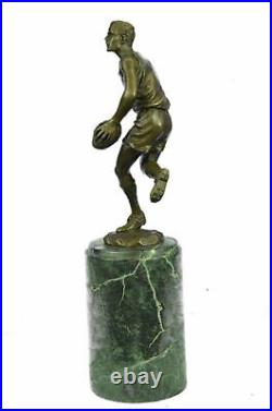 Art Deco Sculpture Football player Bronze Statue Made by Lost Wax Method Trophy