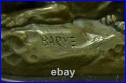 Art Deco Sculpture Jaguar Panther Animal Bronze Statue Hand Made Figurine Deal