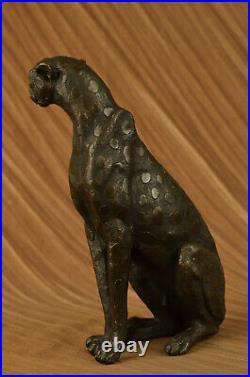 Art Deco Sculpture Jaguar Panther Animal Bronze Statue Hand Made Statue Lost Wax