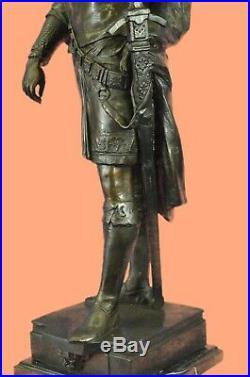 Art Deco Style Persian King Massive Bronze Sculpture Han Made Hot Cast Statue