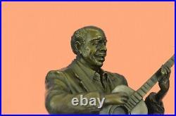 Art Deco Vienna Bronze Gorgeous Detailed Male Man Guitar Player Hand Made Statue