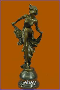 Art Nouveau/Decor Hand Made Gypsy Dancer Bronze Patina Sculpture Statue Figurine