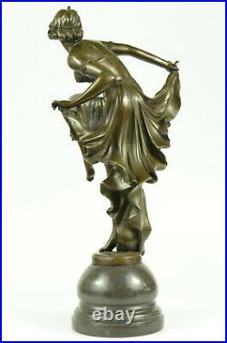 Art Nouveau/Decor Hand Made Gypsy Dancer Bronze Patina Sculpture Statue Lost Wax