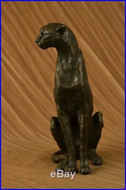 Art Sculpture Jaguar Panther Animal Bronze Statue Hand Made Statue Figurine Sale