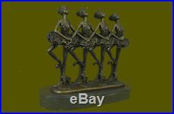 Ballerina Ballet Bronze Figurine Marble Base Figure Statue Hand Made Art Decor T