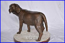 Beagle Dog Standing Made of Bronze, Statue Size 27L x 14W x 21H