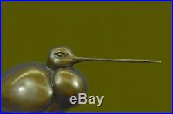 Beautiful Bronze Sculpture, Heron Wet Lands Wading Bird Hand Made Statue Decor