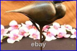 Beautiful Bronze Sculpture, Heron Wet Lands Wading Bird Hand Made Statue Figure