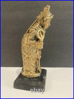 Benin Made Dancing King Bronze Sculpture