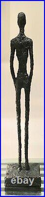 Big Man Standing Pure Bronze Lost Wax Sculpture Unique Abstract Art Made In Uk