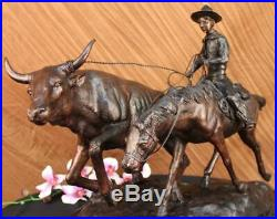 Bolter Collectible Solid Bronze Sculpture Statue By C. M. Russell Hand Made SALE