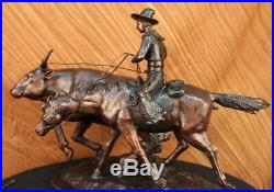 Bolter Collectible Solid Bronze Sculpture Statue By C. M. Russell Hand Made Stat
