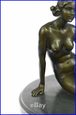 Bronze Art Deco Style Figural Nude Woman Dancer Hand Made Statue Sculpture Gift