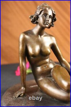 Bronze Classic Sculpture Nude Female Woman Statue Rare Hand Made Figurine Deal