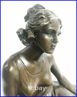 Bronze Classic Sculpture Nude Female Woman Statue Rare Hand Made Figurine Sale