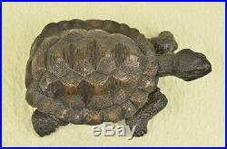 Bronze Fengshui Longevity Fu Dragon Turtle Tortoise Statue Hand Made Figure SALE
