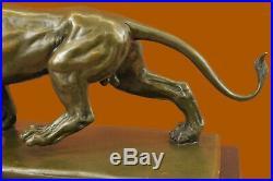 Bronze Ferocity Animal Asian Africa Wild Lion Leo Animal Statue European Made
