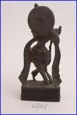 Bronze India Made Shiva Type Goddess Statue Figure (G3L) 7.25 Hindu God 2.74 lbs