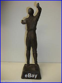 Bronze Male Figure TINOS Made in Denmark Antique Statue Man 1930's