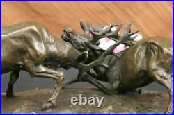 Bronze Marble Statue Elk Deer Stag Ranch Hunting Lodge Hot Cast Hand Made Figure