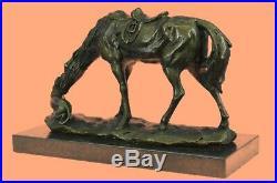 Bronze Sculpture Casting Horse Feeding Dog European Made Decor Sculpture Statue
