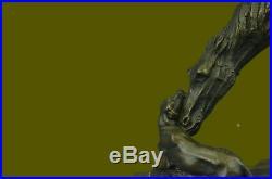 Bronze Sculpture Casting Horse Feeding Dog European Made Signed Sculpture Statue