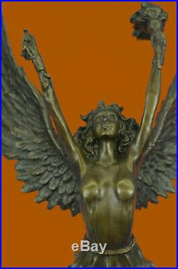 Bronze Sculpture Classic Nike Winged Victory of Samothrace Statue Hand Made Sale