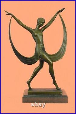 Bronze Sculpture Dance Dancer Dancing Trophy Hand Made Statue by Fayral Deal