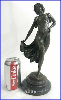 Bronze Sculpture Figure Lady Bust Patina Art Nouveau Victorian Hand Made Statue