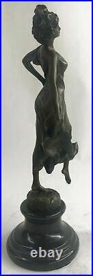 Bronze Sculpture Figure Lady Bust Patina Art Statue Hand Made Nouveau Victorian