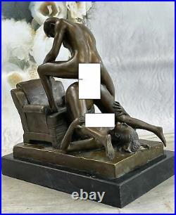 Bronze Sculpture Hand Made Couple Doing PILEDRIVER POSITION Statue Sale Deal NR