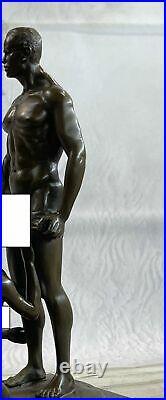 Bronze Sculpture Hand Made Nude Naked Pair Hot Cast Figurine Sculpture Statue