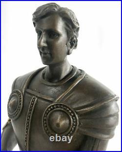 Bronze Sculpture Hand Made Spartan Gladiator Museum Quality Artwork Figur Statue
