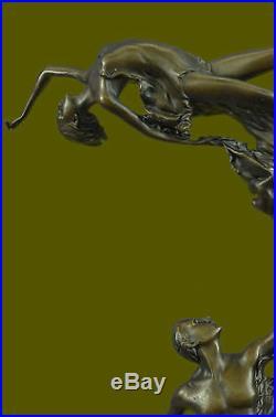 Bronze Sculpture, Hand Made Statue Abstract Signed Original Vitaleh Figure Deco