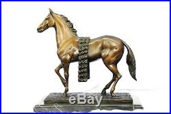 Bronze Sculpture, Hand Made Statue Animal Signed Racing Horse Figurine Gift SALE