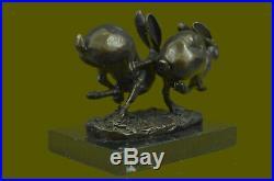 Bronze Sculpture, Hand Made Statue Animal Vienna Austrian Bunny Rabbit Hare DEAL